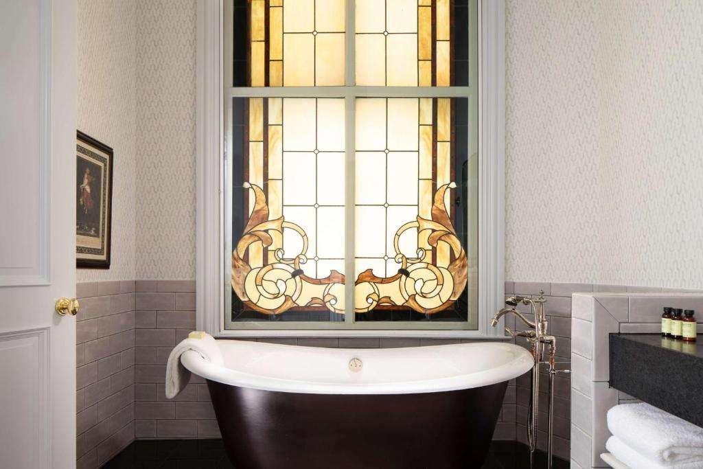 Amazing bathtub at The Driskill Hotel in Austin