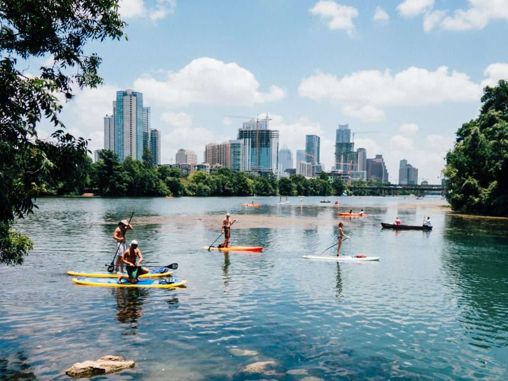 Austin City Skyline from the lake