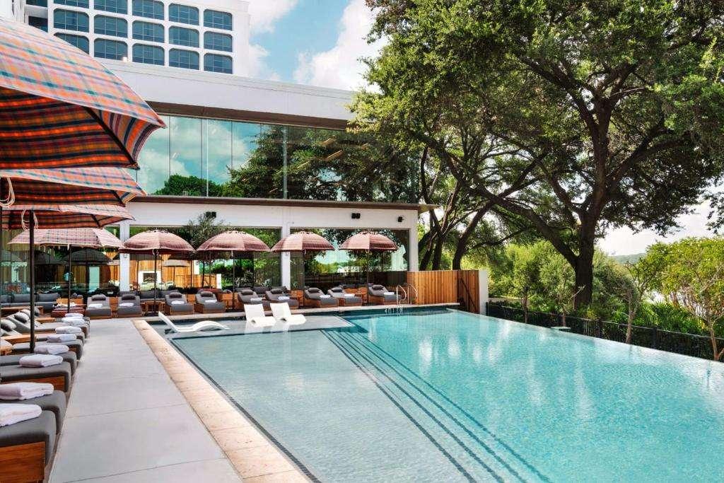 The LINE Hotel Austin infinity pool