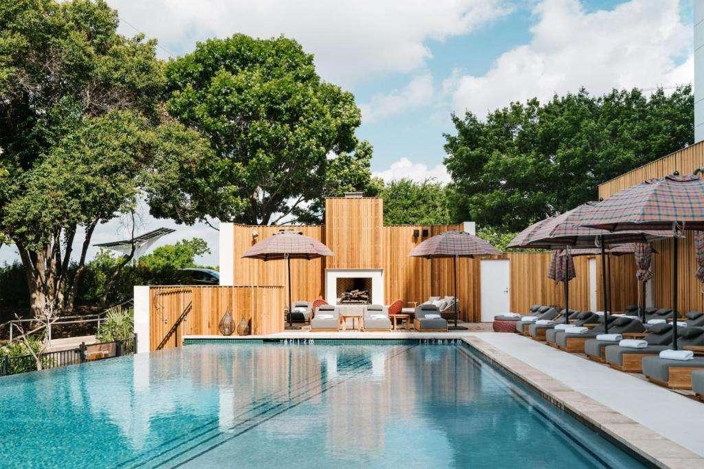 The LINE Austin swimming pool